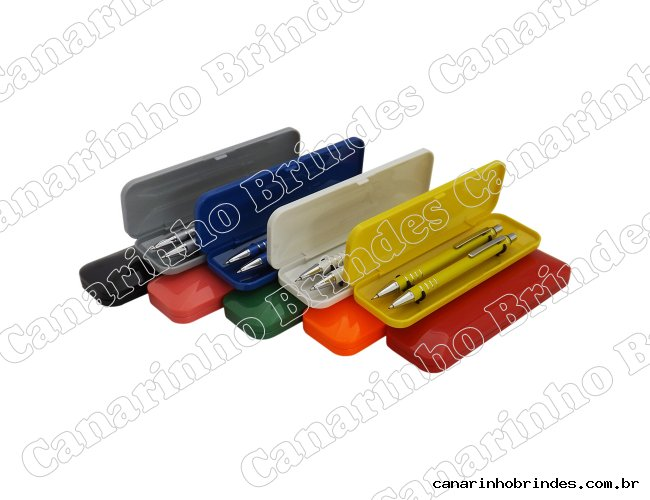 Kit Caneta e Lapiseira Semi Metal 403