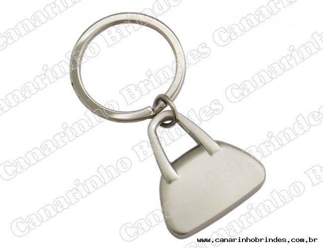 Chaveiro de Metal Formato Bolsa 4081