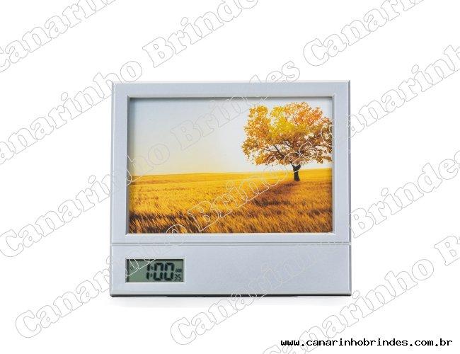 Porta Retrato com Relógio e Porta Canetas 4620
