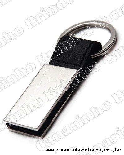 Chaveiro de Metal c/ Detalhe em Couro 4094
