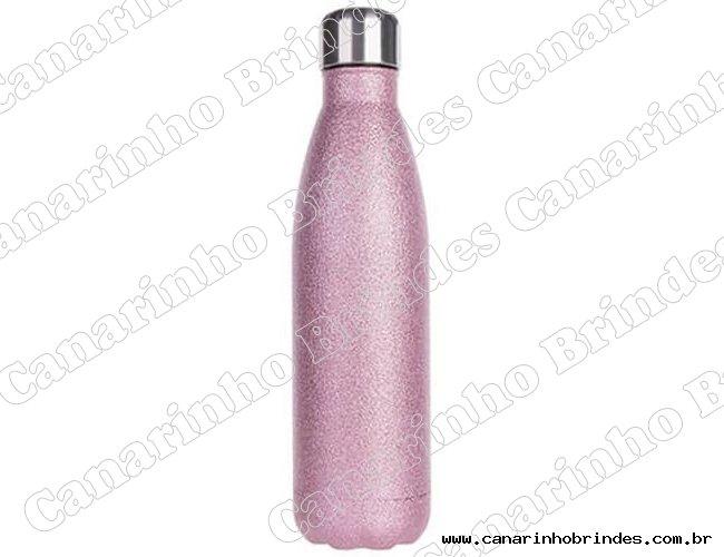 Garrafa Térmica  Glitter Personalizada 500 ml