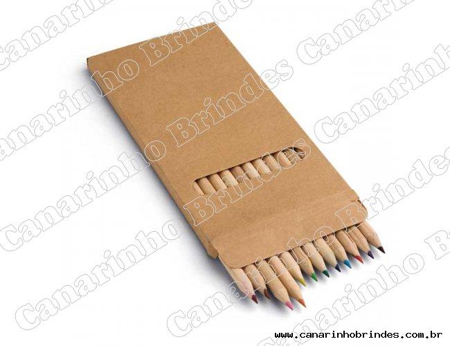 Lápis de Cor 12 unid. c/ Caixa Kraft 590