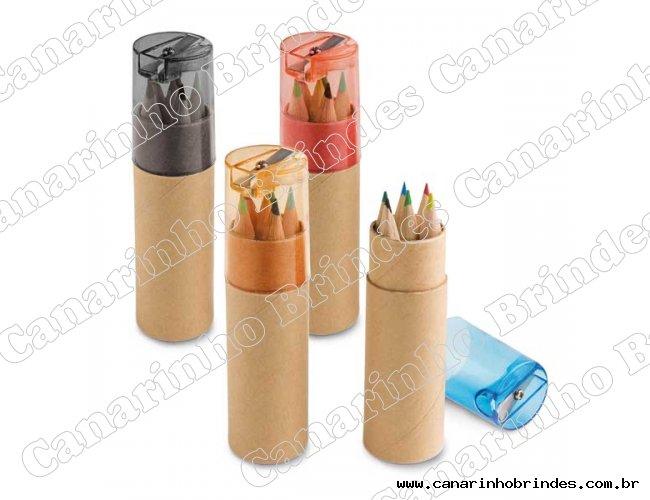 Caixinha  Personalizada com 6 mini lápis de cor-597
