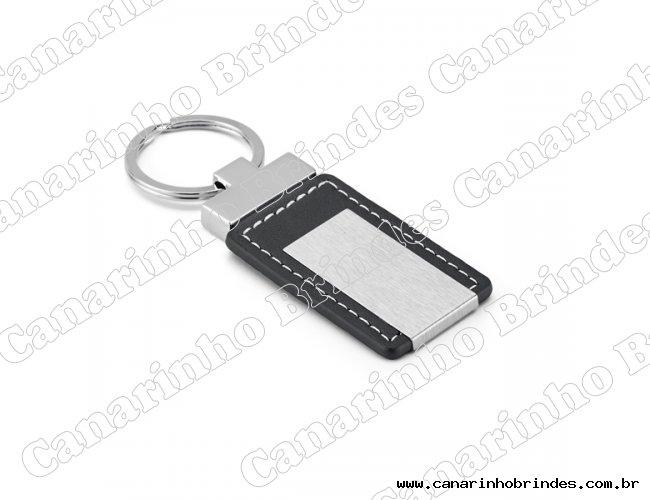 Chaveiro de Metal c/ Detalhe em Couro 4108