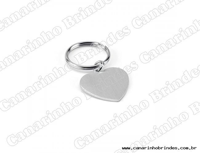 Chaveiro Coração Alumínio 4110