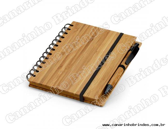 Bloco de Anotações Ecológico Capa Bambu  - 1354