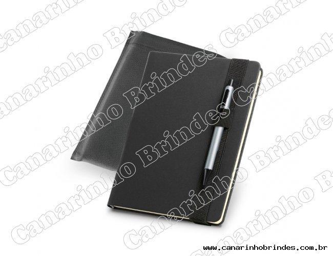 Caderno capa dura couro sintético