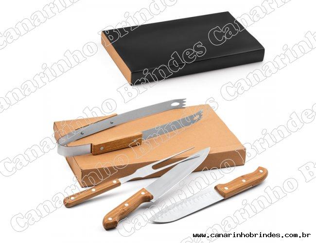 Kit churrasco 4 peças