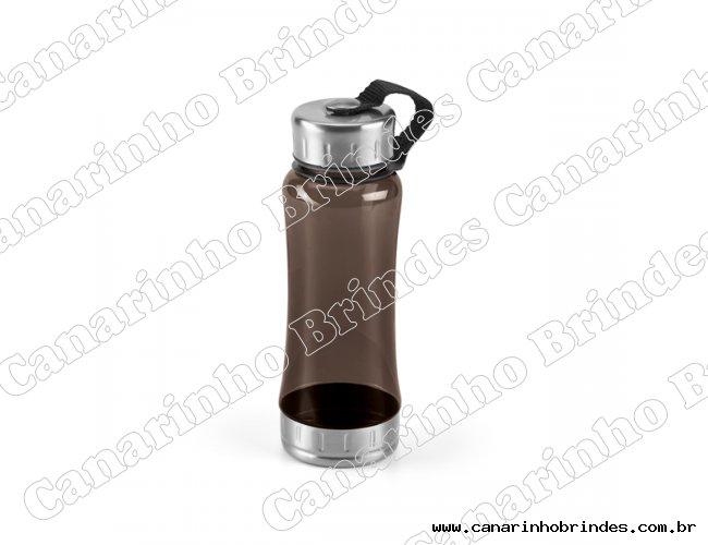Squeeze Plástico 600ml Detalhe Alumínio - 3685