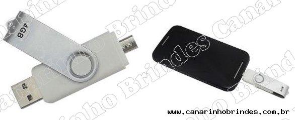Pen Drive + Micro Usb p/ Smartphone 4gb 3027