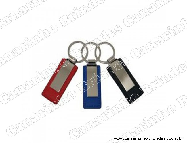 Chaveiro de Metal c/ Detalhe em Couro 4107