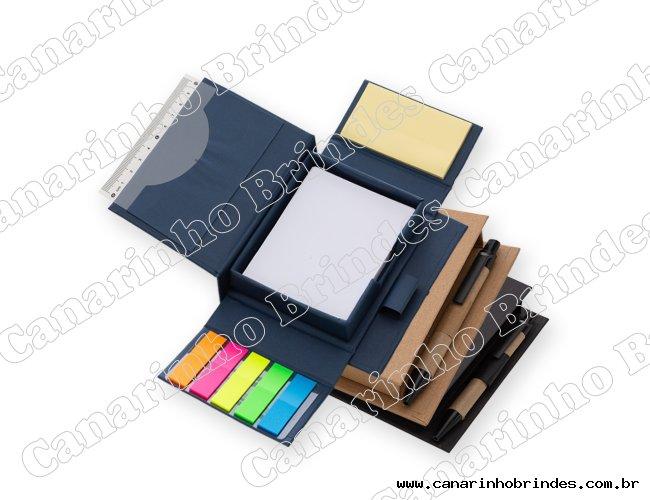 Bloco de anotações ecológico com caneta e autoadesivo Ca1402