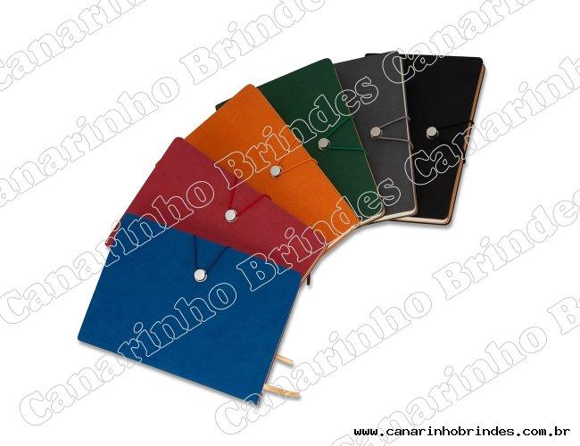 Caderneta Tipo Moleskine com Fecho 1395