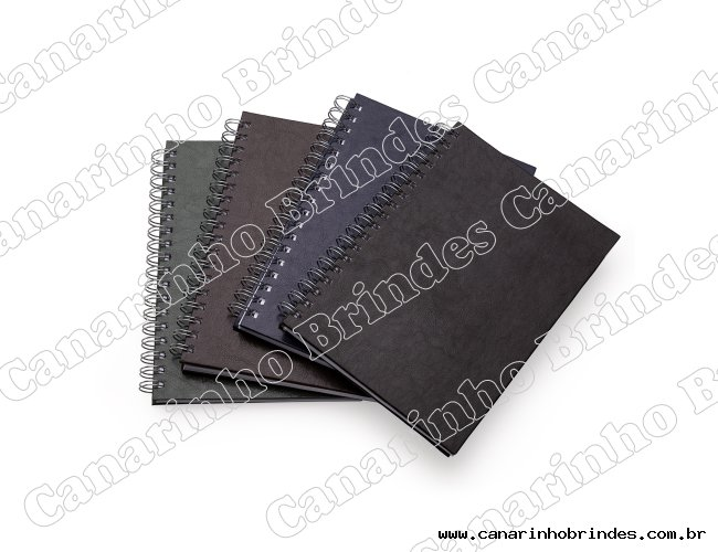 Caderno de Couro Sintético Personalizado-4812