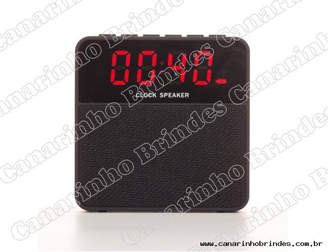 Caixa de Som Bluetooth com Relógio Digital 3131
