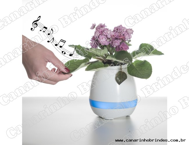 Caixa de Som Vaso com Sensor e Bluetooth - 3127