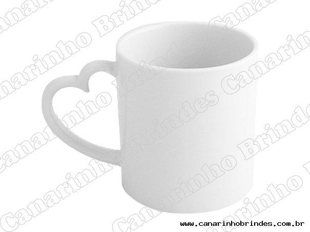 Caneca Coração Porcelana - 1069