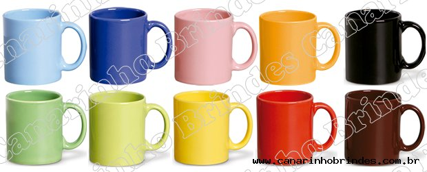 Caneca Porcelana 380ml Colorida - 1095