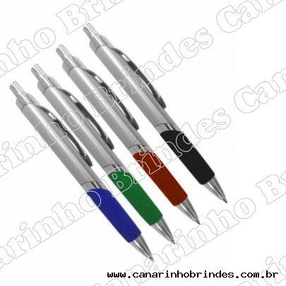 Caneta de Metal c/ Detalhe Colorido 004