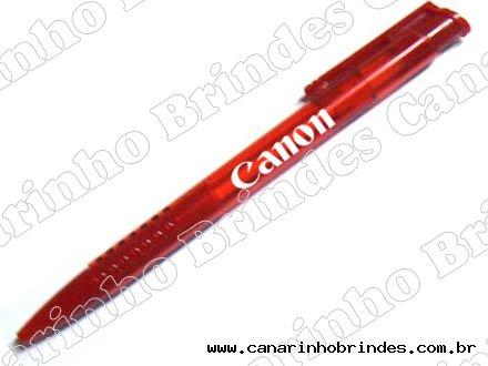 Caneta Plástica Carga Vermelha 266