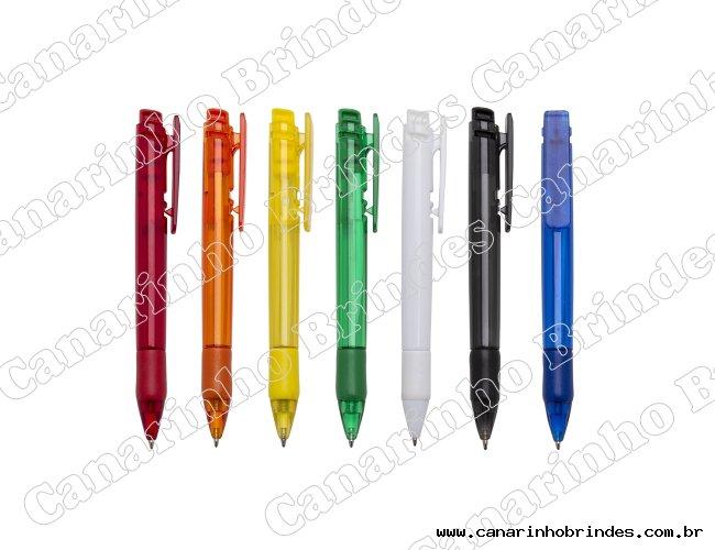 Caneta Plástica Colorida 298