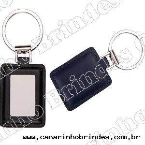 Chaveiro de Couro c/ Detalhe de Metal 4051