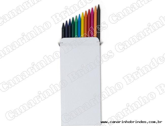Conjunto Personalizado de Lápis com 12 Cores -599