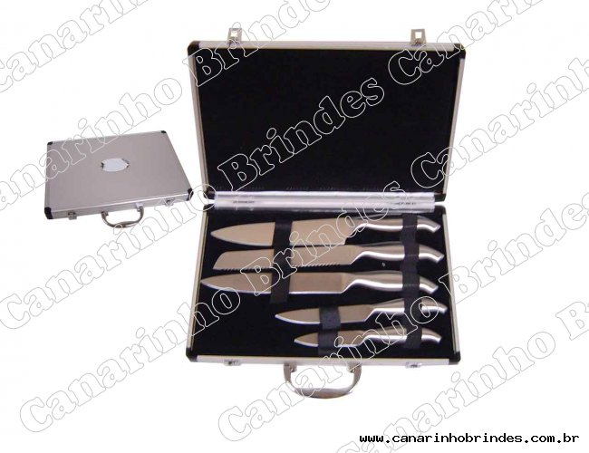 Jogo de facas p/ cozinha c/ estojo-4265