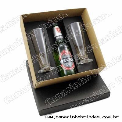 Kit cerveja com taças personalizadas
