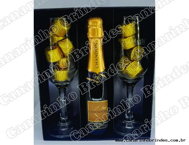 Kit chandon e chocolates