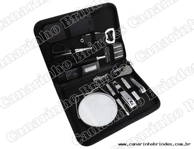 Kit Manicure 12 Peças Masculino 6502