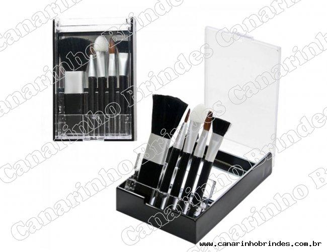 Kit Pincel de Acrílico com 5 peças e Espelho 4307