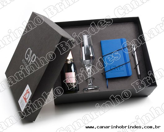 Kit Mini Chandon Moleskine Caneta e Taça 2961