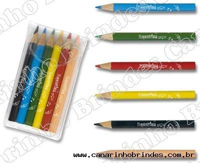 Mini Lápis de cor com estojo 572