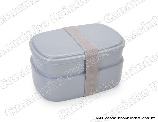 Marmita Plástica 2 Compartimentos + Talheres-1268