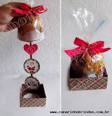 Kit Natal - Mini Panetone com Móbile - CA2993