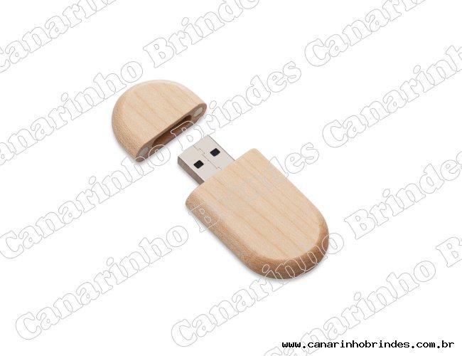 Pen Drive Bambu Oval 4 gigas