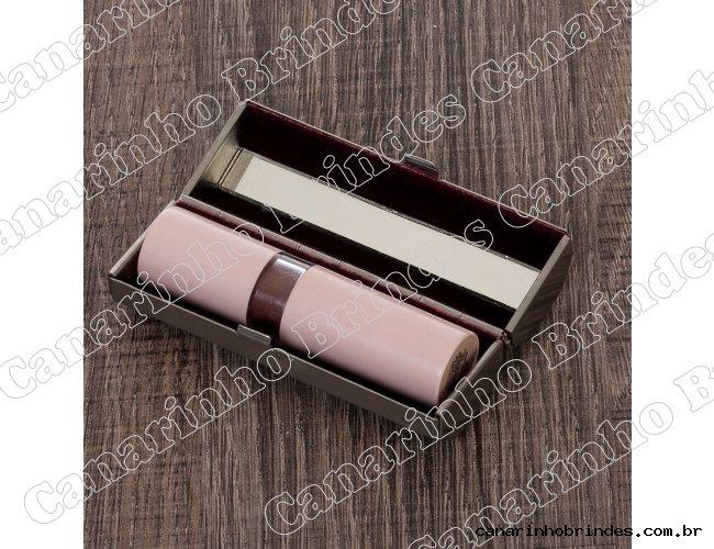 Porta Batom Metal com Espelho 4353