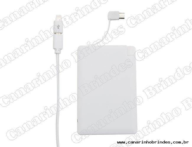 Carregador Power Bank em formato cartão possui indicador led-3853