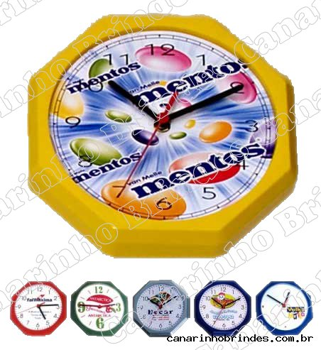 Relógio de Parede Oitavado 3406