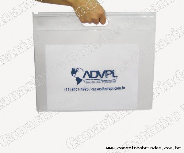 Pasta PVC com Alça Zip Personalizada - 1634