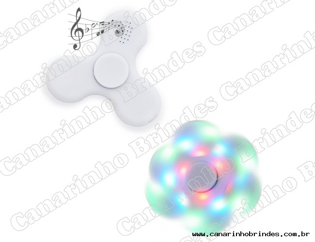 Spinner Anti-Stress Plástico com Led e Bluetooth -5158