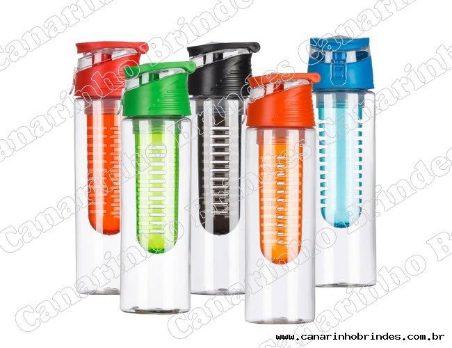 Squeeze Plástico 700ml Com Infusor Colorido - 3707