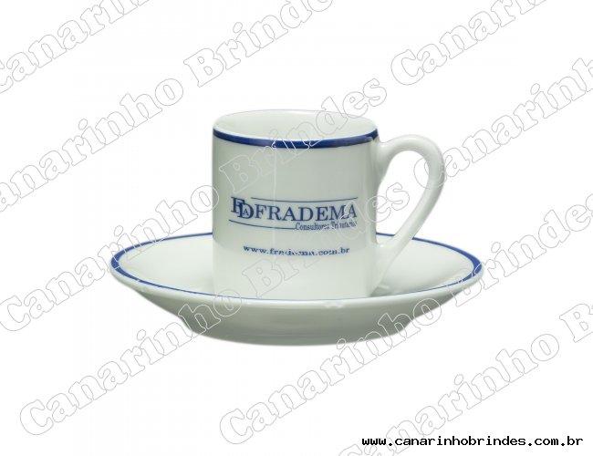 Xícara Café Reta com Pires - 1093
